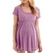 Maternity Short-Sleeve Scoopneck Babydoll T-Shirt