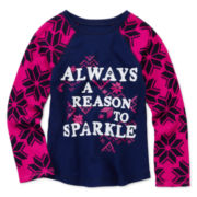 Arizona Long-Sleeve Holiday Tee - Toddler Girls 2t-5t