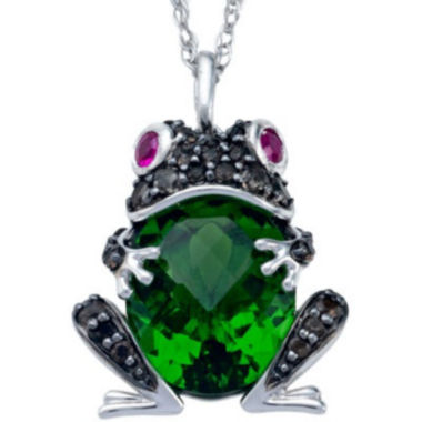 jcpenney.com | Simulated Peridot and Lab-Created Ruby Frog Pendant