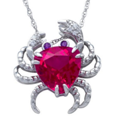 jcpenney.com | Lab-Created Ruby Crab Pendant Sterling Silver Necklace