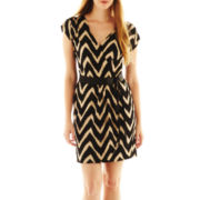 Corey Paige Chevron Print V-Neck Dress