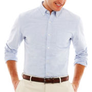 St. John's Bay® Button-Front Poplin Shirt