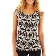 Worthington® Pleat-Neck Top
