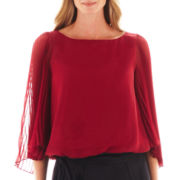 Simply Lilliana 3/4-Sleeve Blouson Blouse