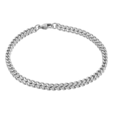 "jcpenney.com | Mens Brushed Stainless Steel 9"" 22mm Foxtail Bracelet"