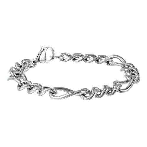 """Mens Stainless Steel 9"""" 11mm Figaro Bracelet"""