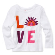 Okie Dokie® Long-Sleeve Cotton Tee - Girls 2t-6