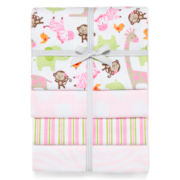 Carter's® Pink Zebra 4-pack Receiving Blankets – Girls