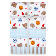 Carter's® Bears and Sports 4-pack Receiving Blankets – Boys