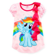 My Little Pony Short-Sleeve Fashion Top - Girls 2t-6