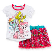 My Little Pony Top and Skirt Set - Girls 2t-4t