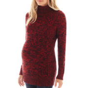 Maternity Long-Sleeve Turtleneck Sweater - Plus