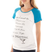 Maternity Martini Knit Short-Sleeve Tee