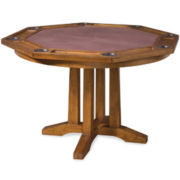 Maxwell Distressed Oak Game Table