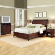 Roxberry Sleigh Bed or Headboard, Nightstand & Media Chest