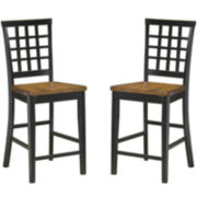 Callan Lattice Set of 2 Counter-Height Dining Chairs