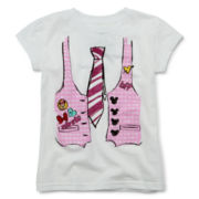 Disney Collection Minnie Mouse Vest Short-Sleeve Graphic Tee – Girls 2-10
