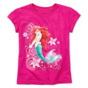Disney Collection Little Mermaid Short-Sleeve Graphic Tee – Girls 2-10