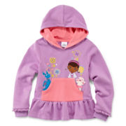 Disney Collection Doc McStuffins Hooded Fleece Pullover – Girls 2-10