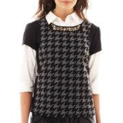 Worthington® Short-Sleeve Jewel-Neck Top