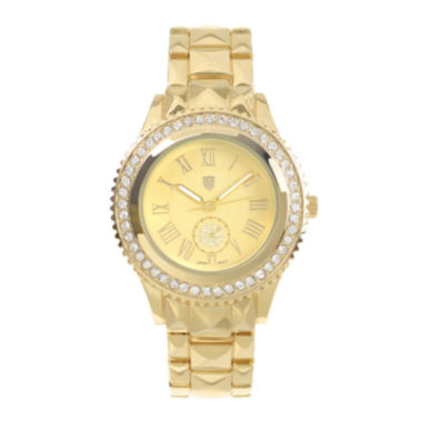 jcpenney.com | Journee Collection Womens Crystal-Accent Stainless Steel Bracelet Watch