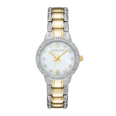 jcpenney.com | Liz Claiborne® Womens Crystal-Accent Two-Tone Bracelet Watch