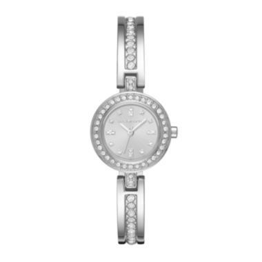 jcpenney.com | Liz Claiborne® Womens Crystal-Accent Silver-Tone Bangle Watch
