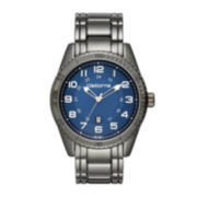Claiborne® Mens Gunmetal Strap Sport Watch