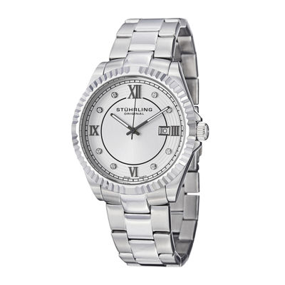 Stührling® Original Mens Crystal-Accent Stainless Steel Watch 3216.03