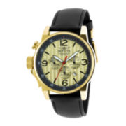Invicta® I-Force Mens Left-Hand Black Leather Strap Chronograph Sport Watch 20137