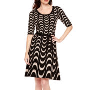 Danny & Nicole® 3/4-Sleeve Sweater Dress