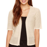 Robbie Bee® Elbow-Sleeve Pointelle Shrug