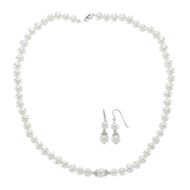 jcpenney.com | Cultured Freshwater Pearl Earring and Necklace Set