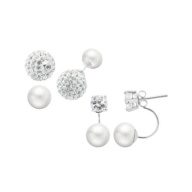 jcpenney.com | Cultured Freshwater Pearl 2-pr. Front-to-Back Earring Set