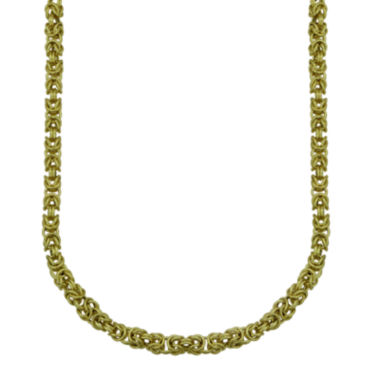 "jcpenney.com | Hollow 14K Yellow Gold 22"" Round Byzantine Chain"