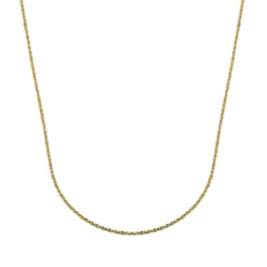 "jcpenney.com | 14K Yellow Gold 18"" Brilliant Chain"