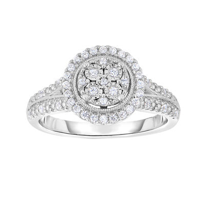 Trumiracle 1 4 Ct T W Genuine Diamond Sterling Silver Round Ring