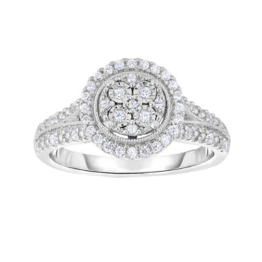 jcpenney.com | TruMiracle® 1/4 CT. T.W. Diamond Sterling Silver Round Ring
