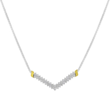 jcpenney.com | 1/10 CT. T.W. Diamond Chevron Necklace