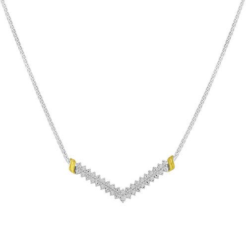 1/10 CT. T.W. Diamond Chevron Necklace