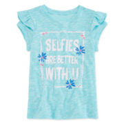 Arizona Flutter-Sleeve Top - Toddler Girls 2t-5t