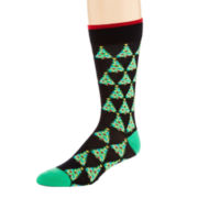 Reckless® Mens Christmas Crew Socks