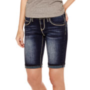 YMI® Double-Stitch Bermuda Denim Shorts