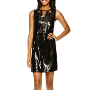 Olsenboye® Sleeveless Sequin A-Line Dress