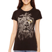 Short-Sleeve Lion Graphic T-Shirt