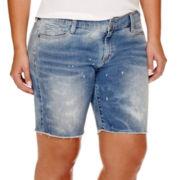 Arizona Raw-Hem Bermuda Shorts - Plus