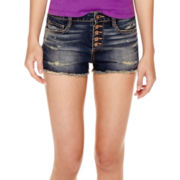 Arizona High-Rise Raw-Hem Shorts