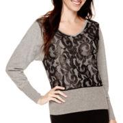 Worthington® Dolman-Sleeve Embellished Sweater