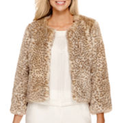 Worthington® Cropped Faux-Fur Jacket - Petite