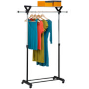 Honey-Can-Do® Top-Shelf Garment Rack